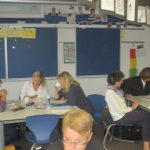 Kleingruppenarbeit unter Frau Heißler